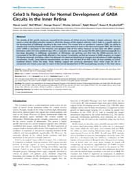 Plos Genetics : Celsr3 is Required for N... by Mullins, Mary C.