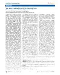 Plos Genetics : an Anti-checkpoint Activ... by Harari, Yaniv