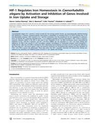 Plos Genetics : Hif-1 Regulates Iron Hom... by Johnson, Randall S.