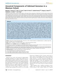 Plos Genetics : Ancestral Components of ... by Copenhaver, Gregory P.