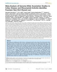 Plos Genetics : Meta-analysis of Genome-... by Akey, Joshua M.