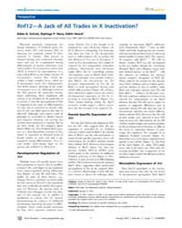Plos Genetics : Rnf12—a Jack of All Trad... by Reik, Wolf