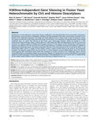 Plos Genetics : H3K9Me-independent Gene ... by Lieb, Jason D.
