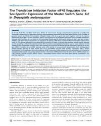Plos Genetics : the Translation Initiati... by Rulifson, Eric