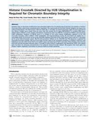 Plos Genetics : Histone Crosstalk Direct... by Lee, Jeannie T.