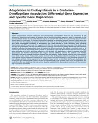 Plos Genetics : Adaptations to Endosymbi... by Rulifson, Eric