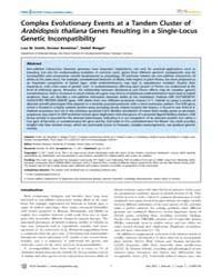 Plos Genetics : Complex Evolutionary Eve... by Mauricio, Rodney