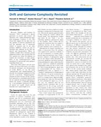 Plos Genetics : Drift and Genome Complex... by Whitney, Kenneth D.