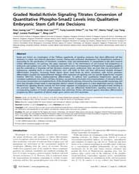 Plos Genetics : Graded Nodal, Volume 7 by Ren, Bing