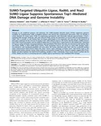 Plos Genetics : Sumo-targeted Ubiquitin ... by Heyer, Wolf-dietrich