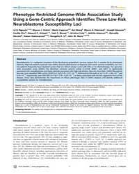 Plos Genetics : Phenotype Restricted Gen... by Schork, Nicholas J.