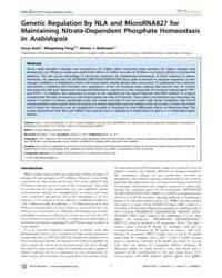 Plos Genetics : Genetic Regulation by Nl... by Qu, Li-jia