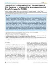 Plos Genetics : Limited Dctp Availabilit... by Larsson, Nils-goran