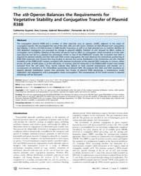 Plos Genetics : the Stb Operon Balances ... by Casadesu´s, Josep