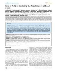 Plos Genetics : Role of Pirh2 in Mediati... by Horwitz, Marshall S.