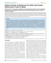Plos Genetics : Distinct Genetic Archite... by Flint, Jonathan