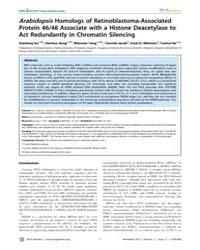 Plos Genetics : Arabidopsis Homologs of ... by Chen, Xuemei