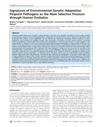 Plos Genetics : Signatures of Environmen... by Akey, Joshua M.