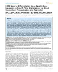 Plos Genetics : Sox9 Governs Differentia... by Heyningen, Veronica Van