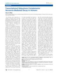 Plos Genetics : Transcriptional Robustne... by Zhang, Jianzhi