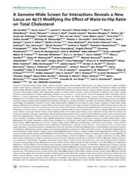 Plos Genetics : a Genome-wide Screen for... by Gibson, Greg
