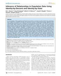 Plos Genetics : Inference of Relationshi... by Allison, David B.
