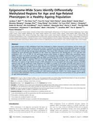 Plos Genetics : Epigenome-wide Scans Ide... by Li, Jun