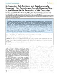 Plos Genetics : a Companion Cell–dominan... by Greb, Thomas