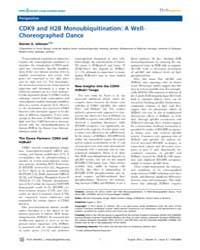 Plos Genetics : Cdk9 and H2B Monoubiquit... by Keogh, Michael-christopher