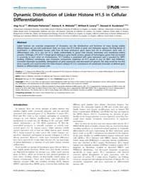 Plos Genetics : Dynamic Distribution of ... by Madhani, Hiten D.