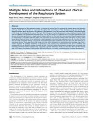 Plos Genetics : Multiple Roles and Inter... by Barsh, Gregory S.