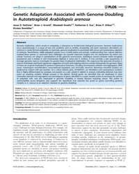 Plos Genetics : Genetic Adaptation Assoc... by Mauricio, Rodney
