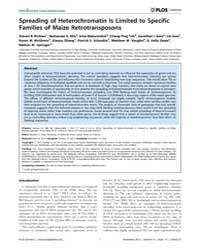 Plos Genetics : Spreading of Heterochrom... by Gaut, Brandon S.