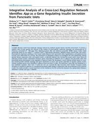 Plos Genetics : Integrative Analysis of ... by McCarthy, Mark I.