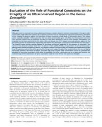 Plos Genetics : Evaluation of the Role o... by Noor, Mohamed A. F.