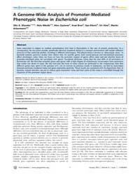Plos Genetics : a Genome-wide Analysis o... by Matic, Ivan