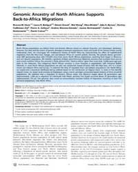 Plos Genetics : Genomic Ancestry of Nort... by Schierup, Mikkel H.