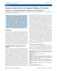 Plos Genetics : Genomic Data Reveal a Co... by Schierup, Mikkel H.