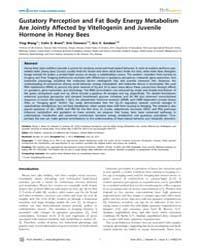 Plos Genetics : Gustatory Perception and... by Rulifson, Eric