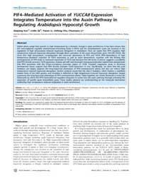 Plos Genetics : Pif4–mediated Activation... by Qu, Li-jia