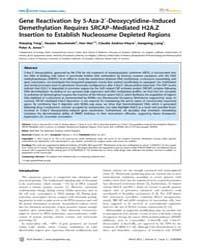 Plos Genetics : Gene Reactivation by 5-a... by Reik, Wolf
