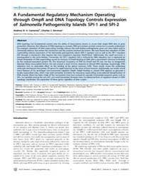 Plos Genetics : a Fundamental Regulatory... by Casadesús, Josep
