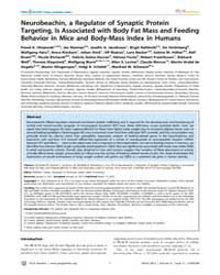 Plos Genetics : Neurobeachin, a Regulato... by Tschop, Matthias