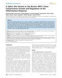 Plos Genetics : a Splice Site Variant in... by Beever, Jonathan