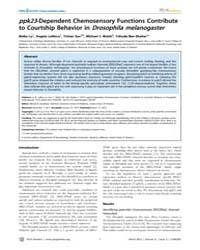 Plos Genetics : Ppk23-dependent Chemosen... by Goodman, Miriam B.