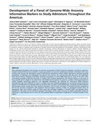 Plos Genetics : Development of a Panel o... by Gibson, Greg