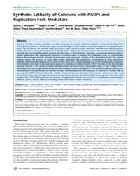 Plos Genetics : Synthetic Lethality of C... by Koshland, Douglas E.