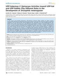 Plos Genetics : Udp-galactose 49-epimera... by Berry, Gerard Thomas