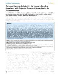 Plos Genetics : Genomic Hypomethylation ... by Pearson, Christopher E.