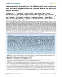 Plos Genetics : Genome-wide Association ... by Bray, Molly